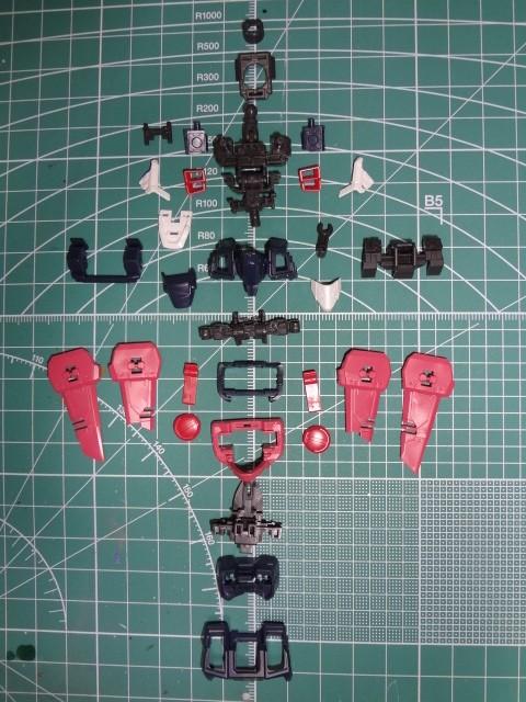 【胴製作】RG ジャスティスガンダム(ZGMF-X09A)製作レビュー⑤【初めてのRG】